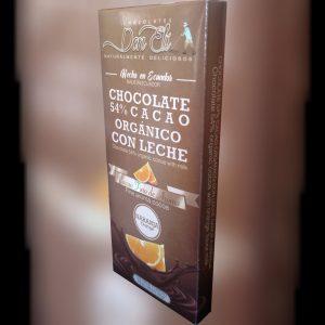 Barra del 54% Cacao Orgánico sabor a Naranja